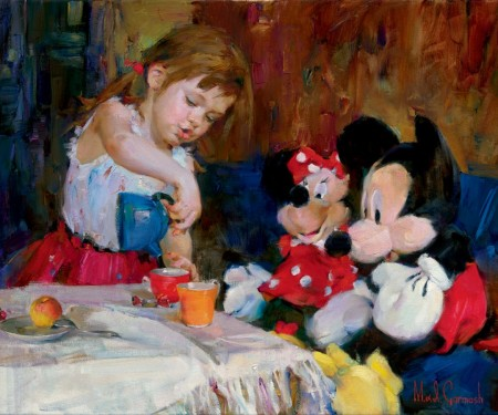 Michael and Inessa Garmash - Teatime with Mickey and Minnie