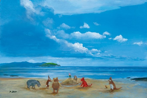 Peter Ellenshaw - Pooh and Friends at the Seaside