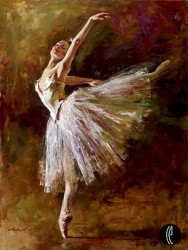 BALLERINA Hand Embellished Giclee on Hand-Textured Canvas 40 x 30 Edition Size: 95 by Andrew Atroshenko