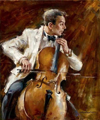 BASSLINE Hand Embellished Giclee on Hand-Textured Canvas 36 x 30 Edition Size: 50 by Andrew Atroshenko