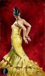 BOLD EXPRESSION Hand Embellished Giclee on Hand-Textured Canvas 40 x 24 Edition Size: 95 by Andrew Atroshenko