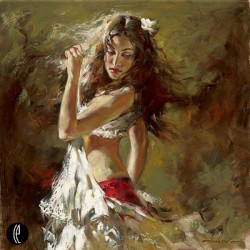 INTO THE LIGHT Hand Embellished Giclee on Hand-Textured Canvas 24 x 24 Edition Size: 50 by Andrew Atroshenko