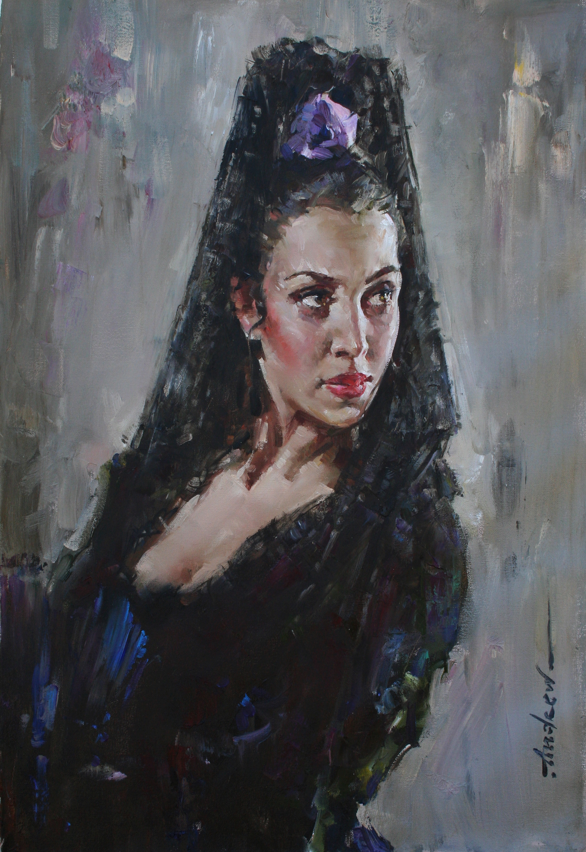 Andrew Atroshenko - Karmen - Oil on Canvas Original Painting