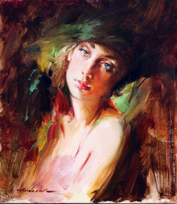 Andrew Atroshenko - Knowing - Oil on Canvas Original Painting