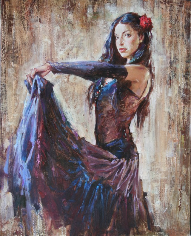 Andrew Atroshenko - Nathaniella - Oil on Canvas Original Painting