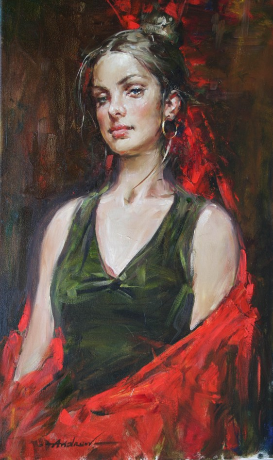 Andrew Atroshenko - PAULINA - Oil on Canvas Original Painting