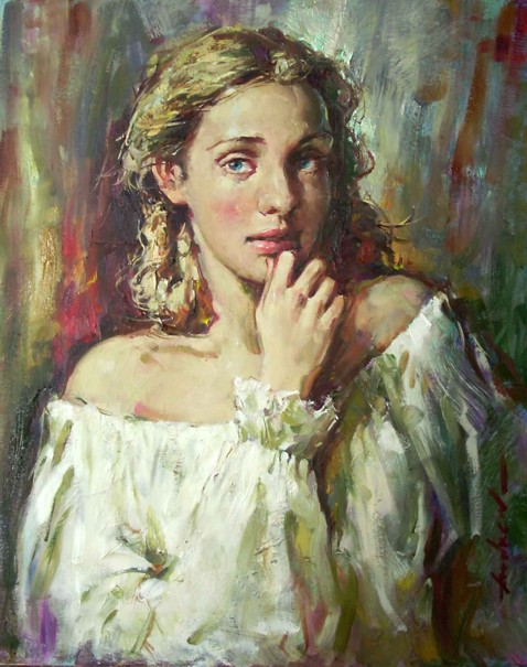 Andrew Atroshenko - Pure Beauty - Oil on Canvas Original Painting