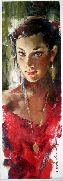 Andrew Atroshenko - Riddle - Oil on Canvas Original Painting