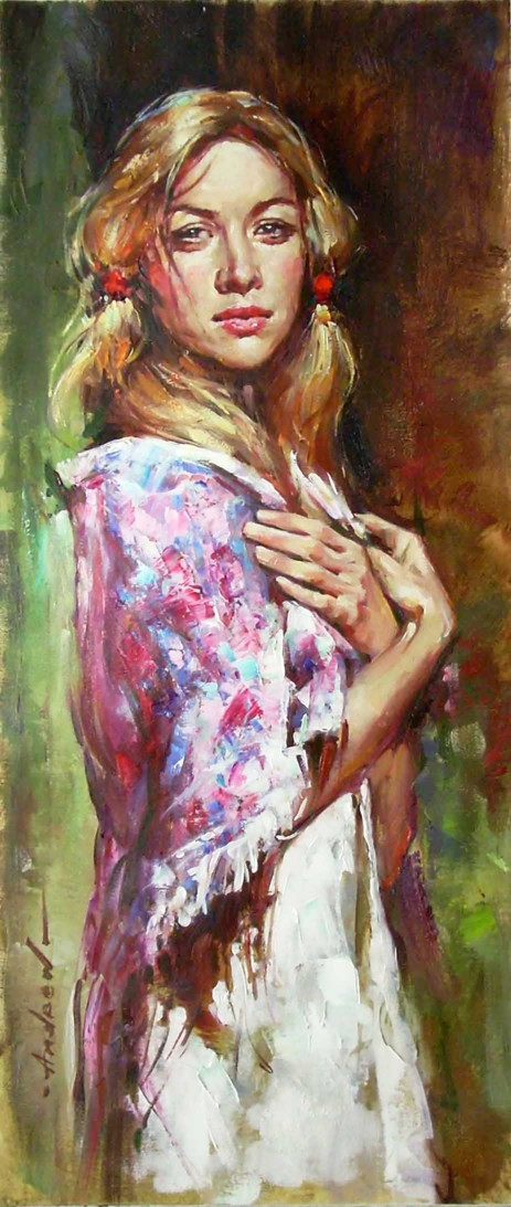 Andrew Atroshenko - Russian Beauty - Oil on Canvas Original Painting