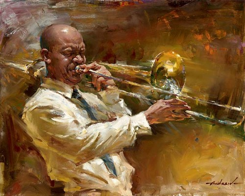 SOLID BRASS Hand Embellished Giclee on Hand-Textured Canvas 24 x 30 Edition Size: 50 by Andrew Atroshenko