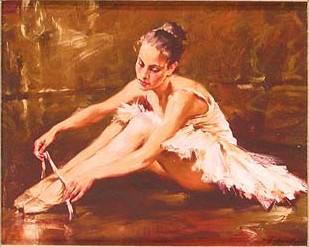 BEFORE THE DANCE Giclee on Canvas 8 x 10 Edition Size: 295 Museum Miniature by Andrew Atroshenko