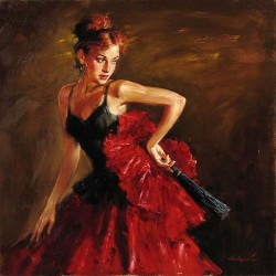 ENCHANTRESS Hand Embellished Giclee on Hand-Textured Canvas 30 x 30 Edition Size: 95 by Andrew Atroshenko