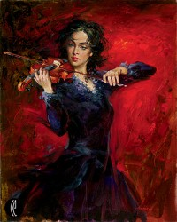 MUSIC Hand Embellished Giclee on Canvas 30 x 24 Edition Size: 20 20th Anniversary Editions by Andrew Atroshenko