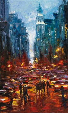 Elena Bond - BIG TOWN - Limited Edition on Canvas