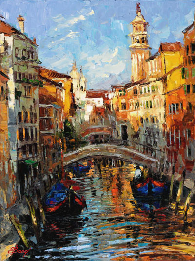 Elena Bond - The Color of Venice - Limited Edition on Canvas