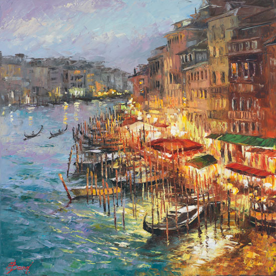 Elena Bond - LUSTROUS VENICE - Limited Edition on Canvas