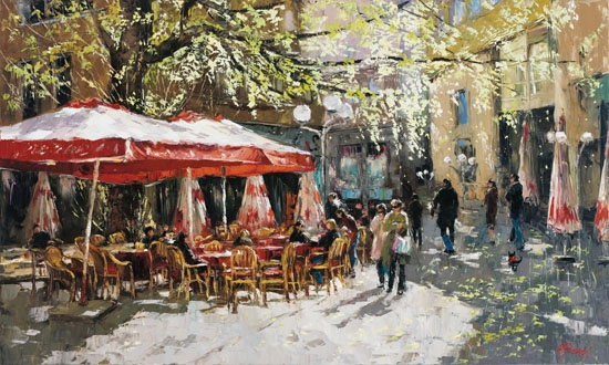 Elena Bond - Parisian Spring - Limited Edition on Canvas