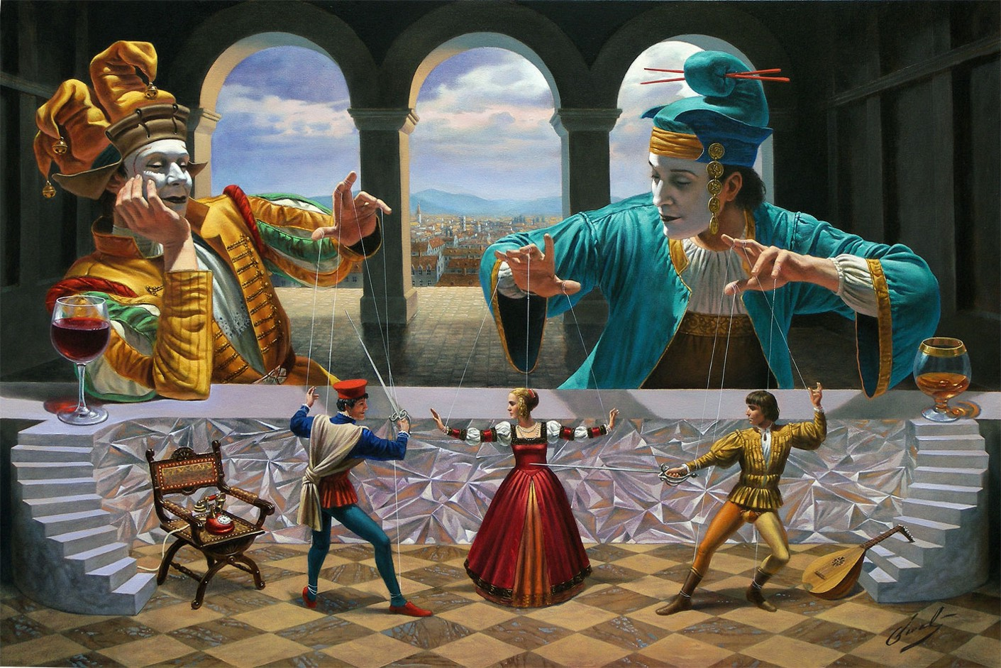 Michael Cheval - Art-of-Diplomacy-IV - Oil on Canvas
