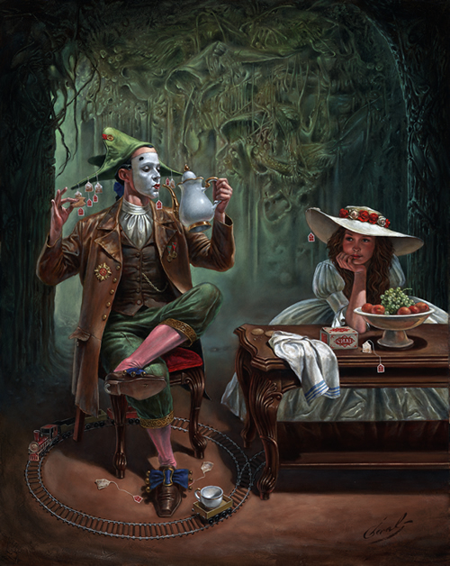 Michael Cheval - TEA FOR ONE - Oil on Canvas