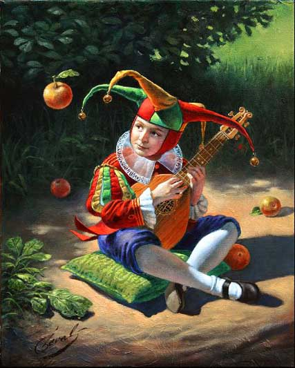 Michael Cheval - cheval air of attraction - Oil on Canvas