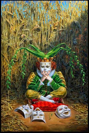 Michael Cheval - April - Oil on Canvas