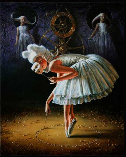 Michael Cheval - CIRCLE OF TIME - Oil on Canvas