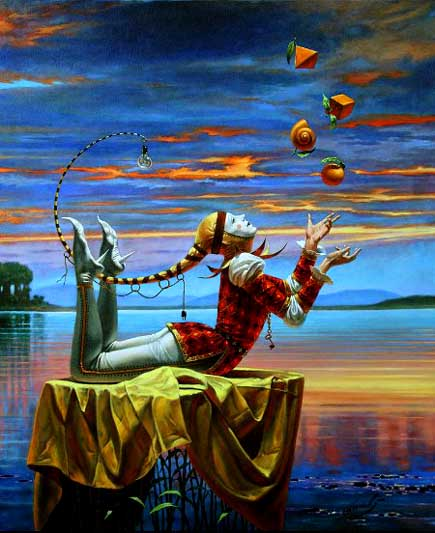 Michael Cheval - COMPARITIVE ANALOGY - Oil on Canvas