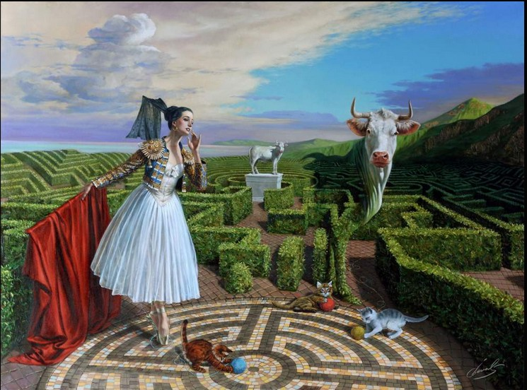 Michael Cheval - ECHO OF MISCONCEPTIONS - Oil on Canvas