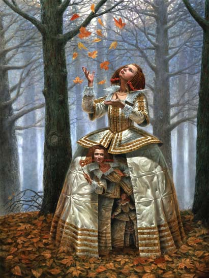 Michael Cheval - ENIGMA OF THE GENERATIONS - Oil on Canvas