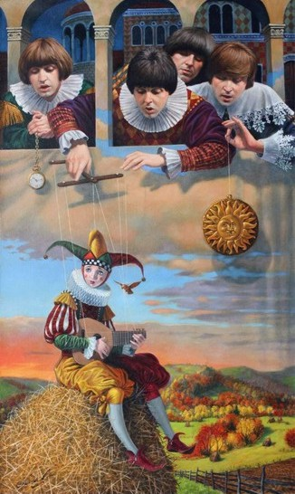 Michael Cheval - FOOL ON THE HILL - Oil on Canvas