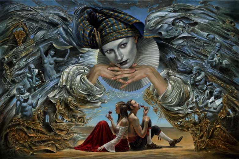 Michael Cheval - GUARDIAN ANGEL - Oil on Canvas