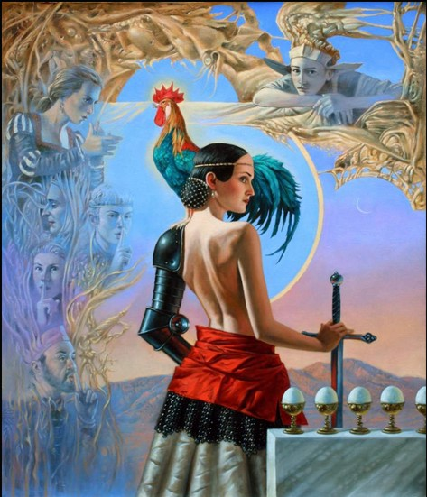 Michael Cheval - HUSH - Oil on Canvas