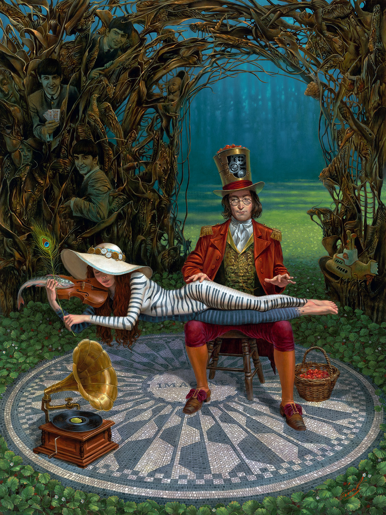 Michael Cheval - IMAGINE III - Oil on Canvas