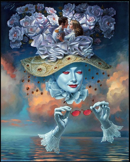 Michael Cheval - LOVE IS BLIND II - limited edition print