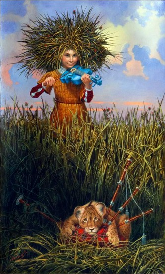 Michael Cheval - LULLABY FOR A STRANGER - Oil on Canvas