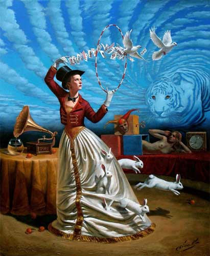 Michael Cheval - MAGIC OF TRIVIAL ILLUSIONS - Oil on Canvas