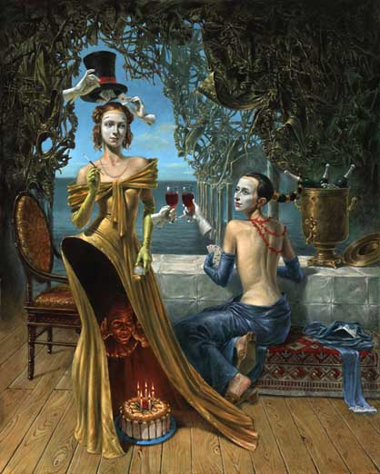 Michael Cheval - MAGICIAN'S BIRTHDAY - Oil on Canvas
