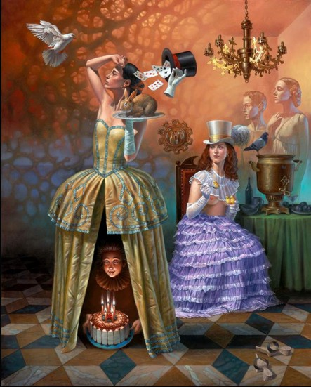 Michael Cheval - MAGICIAN'S BIRTHDAY II - Oil on Canvas