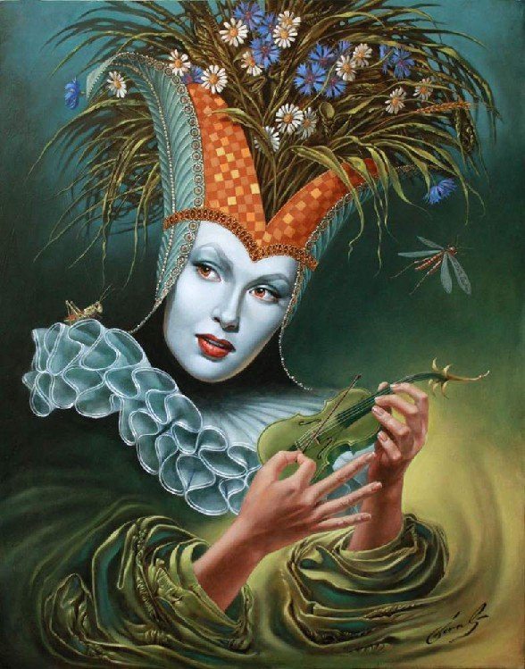 Michael Cheval - MIDSUMMER CHIRR - Oil on Canvas