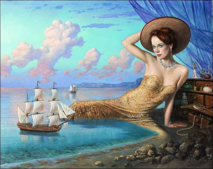 Michael Cheval - MIRROR OF REMINISCENCE - Oil on Canvas
