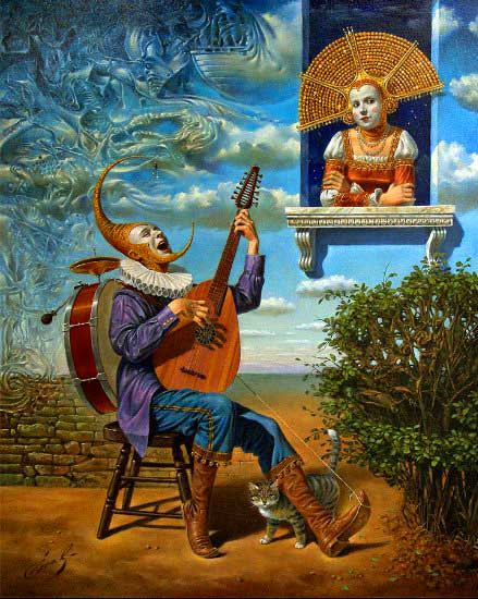 Michael Cheval - PERFECT STRANGER - Oil on Canvas
