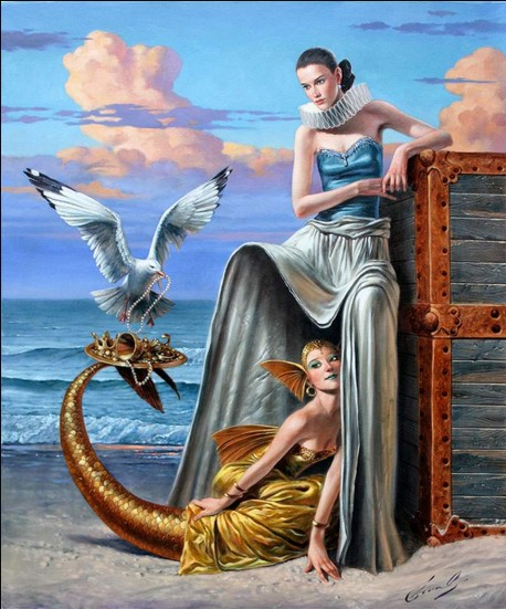Michael Cheval - PLEDGE OF COEXISTENCE - Oil on Canvas