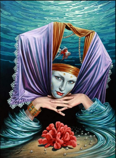 Michael Cheval - PROFUNDITY KEEPER - Oil on Canvas