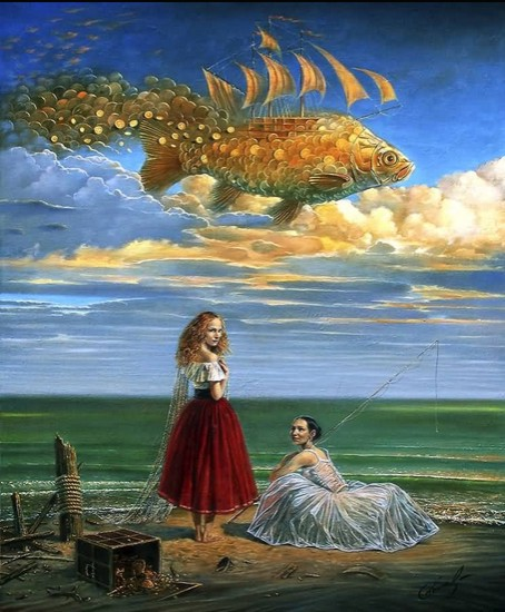 Michael cheval michael cheval art paintings and prints for Paragon fish oil