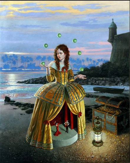 Michael Cheval - SHOWTIME - Oil on Canvas