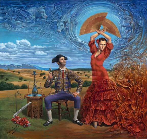 Michael Cheval - WIND OF CHANGE - Oil on Canvas