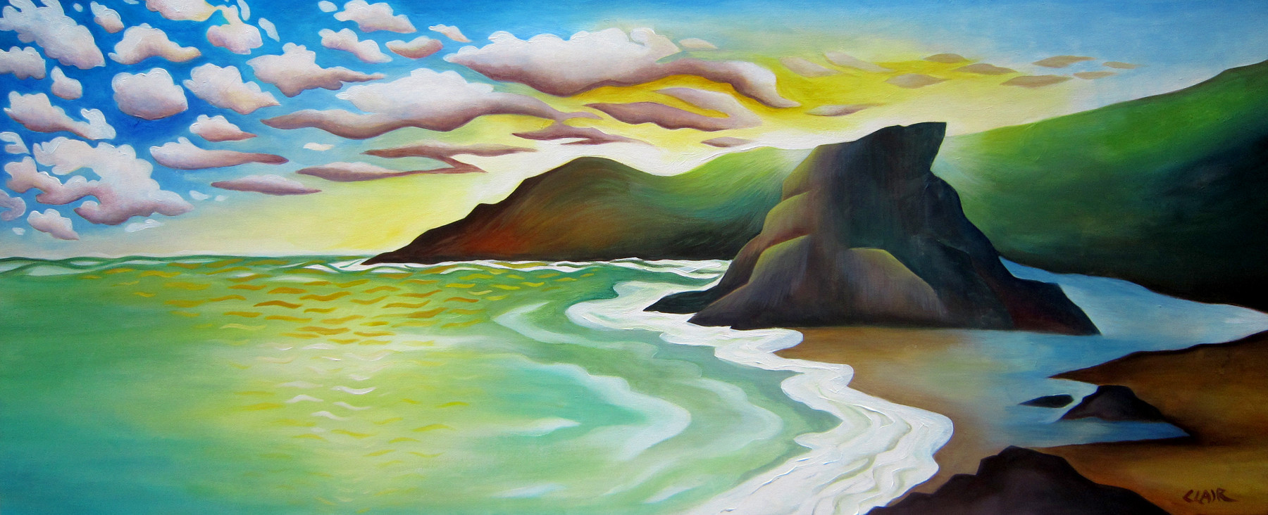 Stephanie Clair - PIHA SUNSET