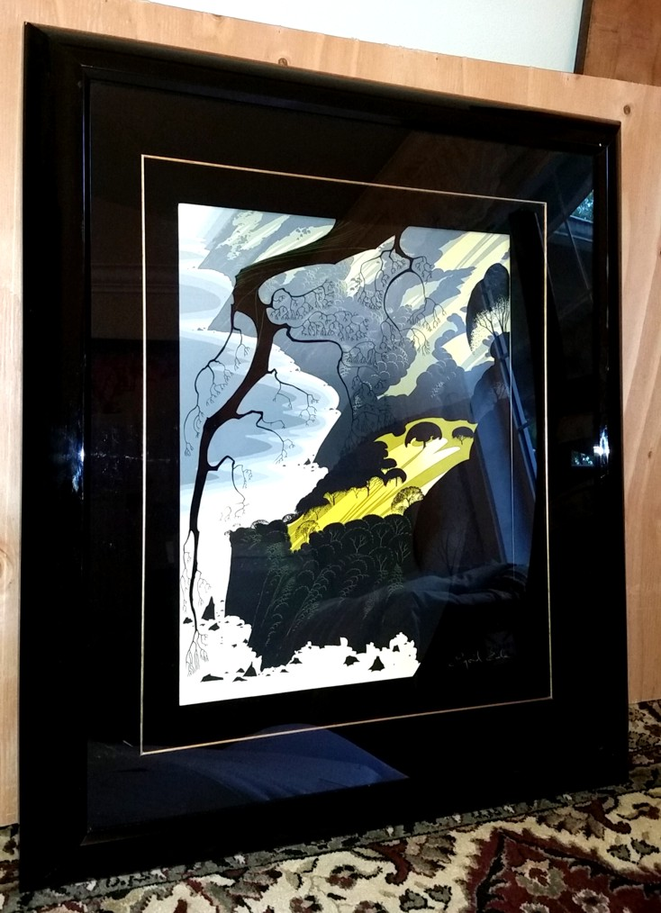 Eyvind Earle - Carmel Highlands - Limited Edition Serigraph print