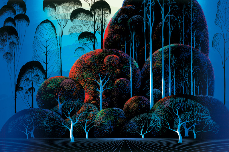 Eyvind Earle - Enchanted Forest - Limited Edition Serigraph print