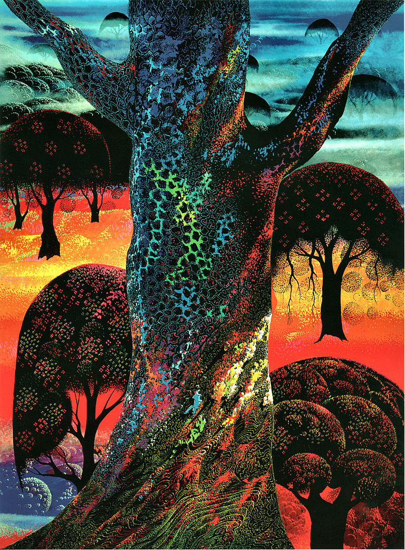 Eyvind Earle - Fire Magic - Limited Edition Serigraph print